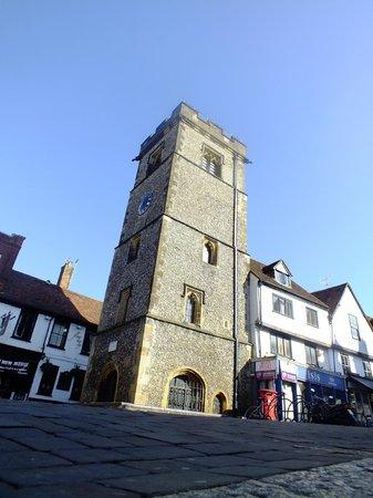 St Albans Clock Tower: Clock Tower 16/5/2013-bright sun