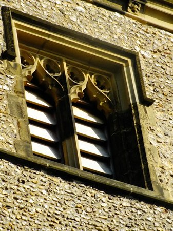 St Albans Clock Tower: Clock tower window detail