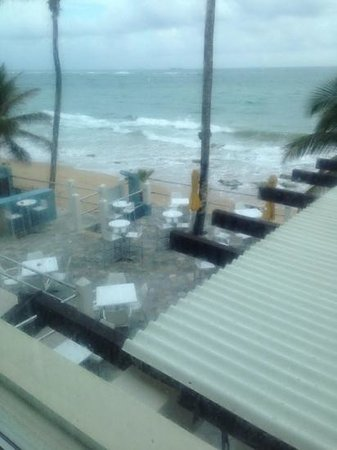 Atlantic Beach Hotel: the view from my room rain one this day