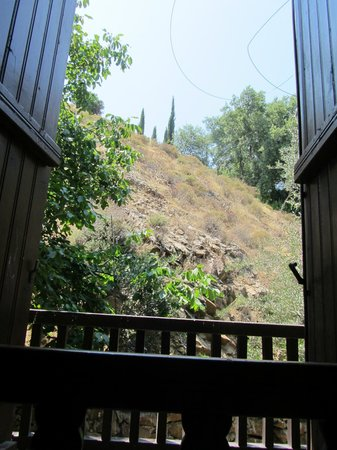 Mylos Restaurant  - mountain view from restaurant