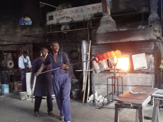 Anselm's Kitengela Hot Glass: blowing