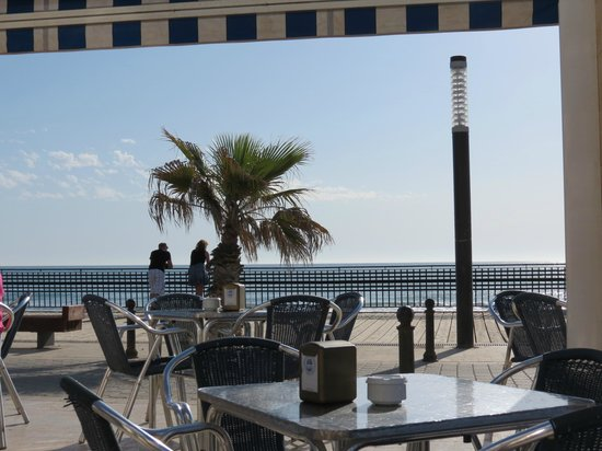 Hostal Alba: View from the restaurant.