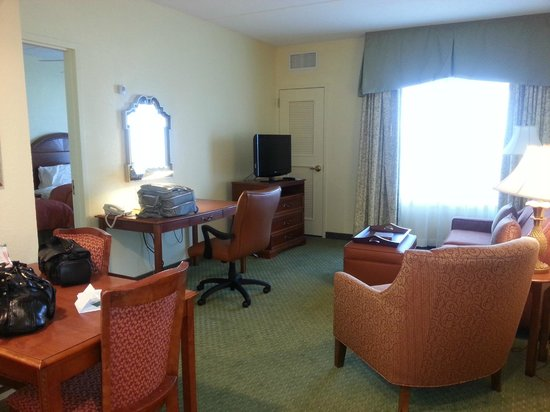 Homewood Suites Valley Forge : Large Living area-Large sofa not seen to right