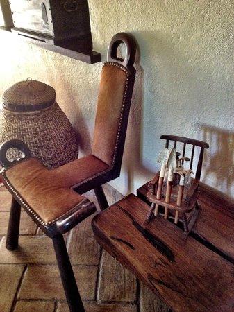 Salsalito: Ralph's unique furniture in hallway