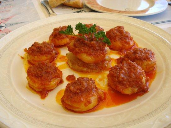 Restaurante Mestral: Los langostinos con sobrasada...!!!