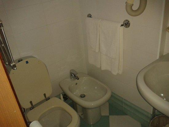 Hotel Alemagna: Dusche/Bad/WC alles in einem