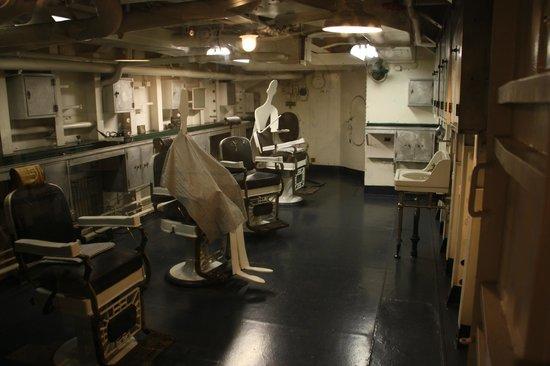 Barber Shop below deck - Picture of Battleship North