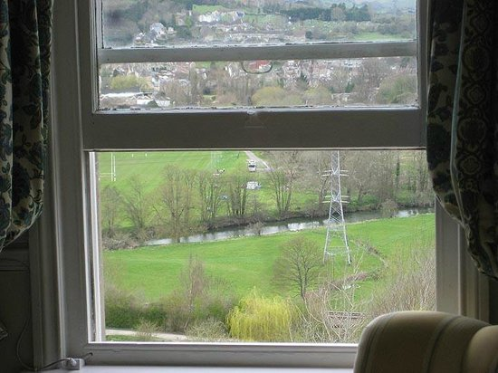 Tasburgh House: View from Hotel bedroom window overlooking canal and Avon