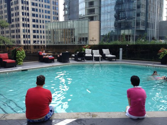 Hilton Toronto: nice view from the pool