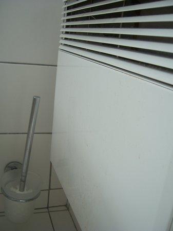 College Hotel : Radiateur couvert de tâches d'excrements