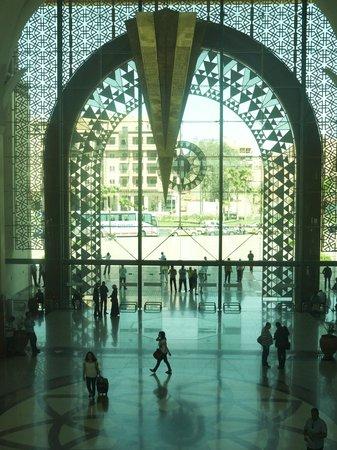 Opera Plaza Hotel : Interior of facade of Marrakesh Railway Station