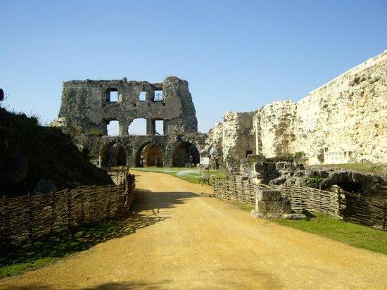 Château de Coucy : intérieur des vestiges