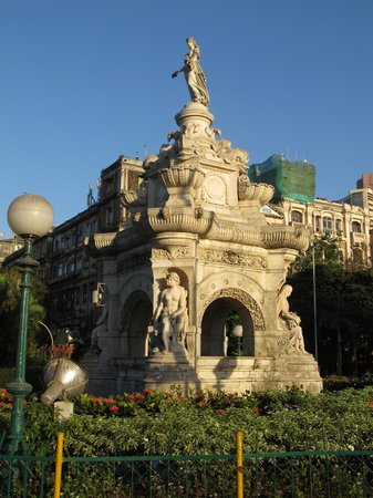 Flora Fountain: Lovely coloured stone