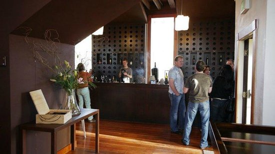 Vintner's Collective : The beautiful walnut bar, wher the fun begins!