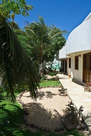 Casa Coco Verde - Pousada & Hostel: Garden are in front of the house