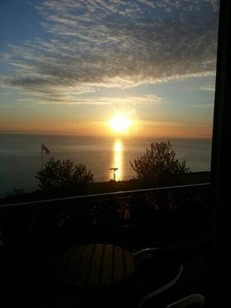 The Downs, Babbacombe: morning from hotel room say no more
