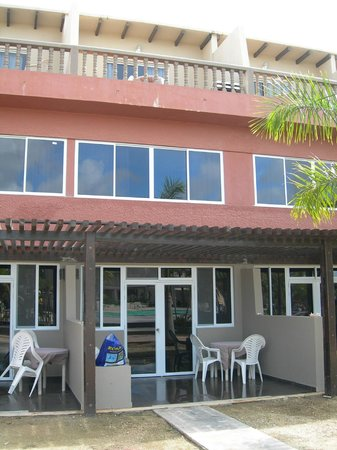 Eden Beach Resort: Outside of our renovated 2 BR unit (Dec 2012)