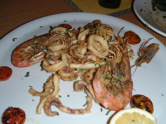 L'Aquila D'Oro : seafood platter