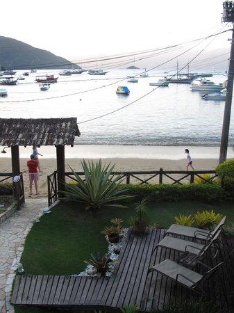 Pousada Caicara : Paisagem de um dos quartos com vista para o mar
