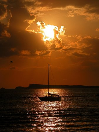Sunset over the Cafe Del Mar
