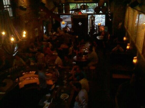 The Brick Store Pub: from the upper level.