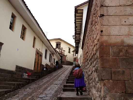 Casa de Mama Cusco-The Treehouse: walking to Plaza from Casa de Mama
