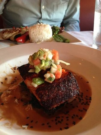 A Table Apart: salmon two ways....grilled mahi in the background