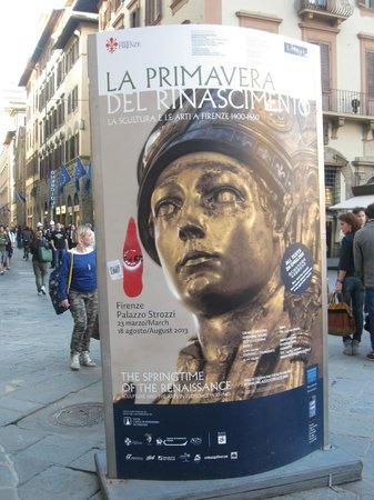 Palazzo Strozzi: LA PUBBLICITA' della mostra