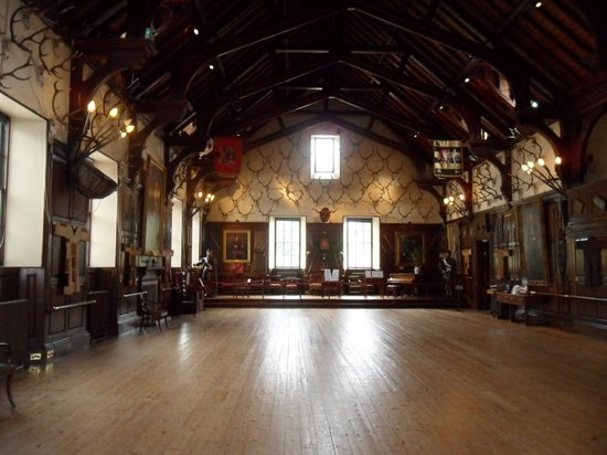 Blair Castle and Hercules Gardens: the great hall