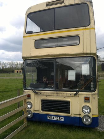 Ducky's Park Farm: The double decker bus which was a hit, you can go upstairs and its in good condition