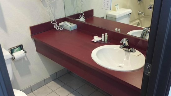 Red Roof Inn & Suites Council Bluffs : bathroom