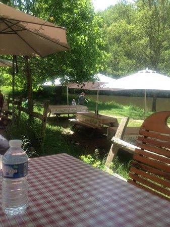 Le Dejeuner sur l'Herbe: les tables