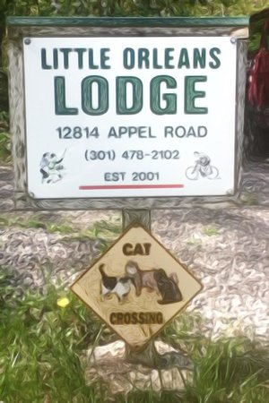 Little Orleans Lodge: New sign!