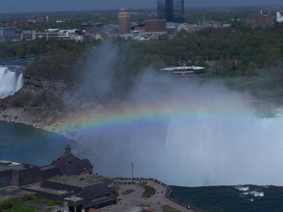 Niagara Falls Marriott on the Falls : AFTERNOON RAINBOW OVER THE FALLS
