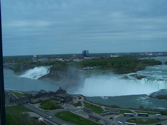 Niagara Falls Marriott on the Falls: OUR VIEW FROM OUR HOTEL ROOM