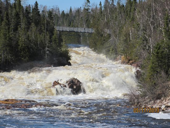 Water rapids across the road from motel picture of for Terrace bay ontario