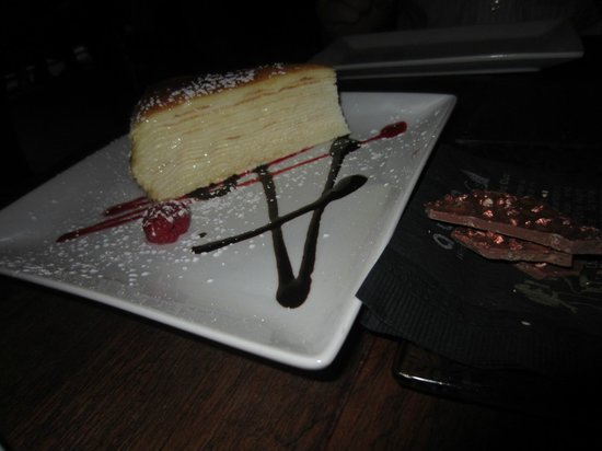 Ayza Wine & Chocolate Bar : Creme Brûlée 20 layer cake-Midtown location...INCREDIBLE!