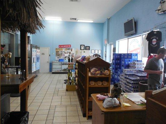 The Cayman Islands Brewery: lobby area