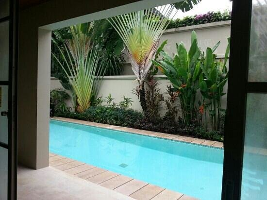 The Residence Resort and Spa Retreat: View of pool from master bedroom.