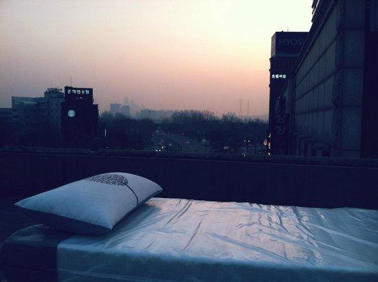 Seoul Base Camp Hostel : Rooftop