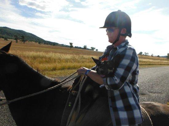 Jackaroo Jillaroo Downunder: me holding trixy because she was exhausted