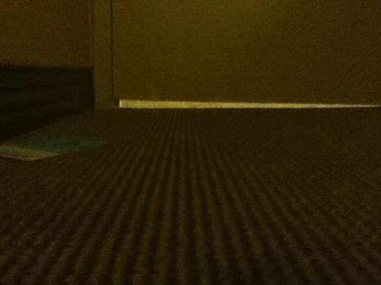 Sheraton Centre Toronto Hotel: One inch gap under the door. Lots of noise bleeding.