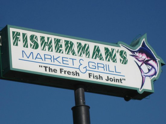 Fisherman's Market & Grill: Sign