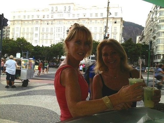 Belmond Copacabana Palace: Beach Side Drinks;hotel in the background