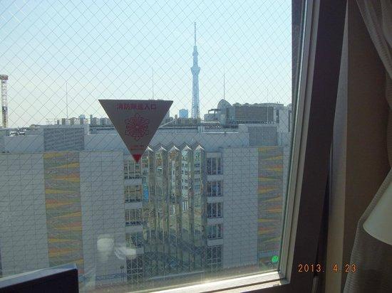 Hotel Keihan Asakusa: 部屋から見えました!スカイツリー