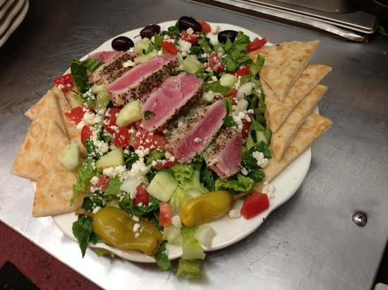 Olympia Cafe and Gyros: Ahi over Greek Salad