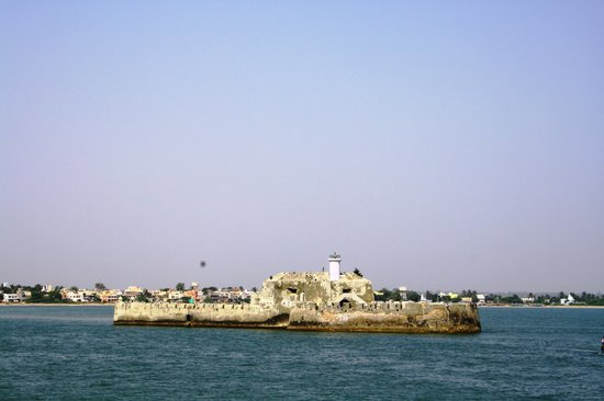 View of the jail from Diu fort