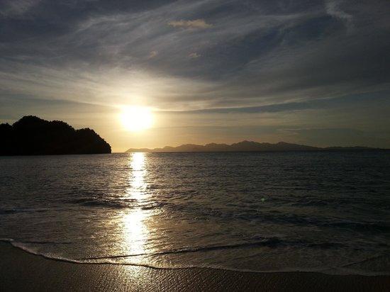 Tanjung Rhu Resort : sunset view