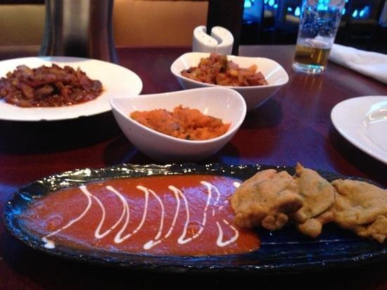 Maharaja: venison, lamb, pumpkin and aubergine dishes