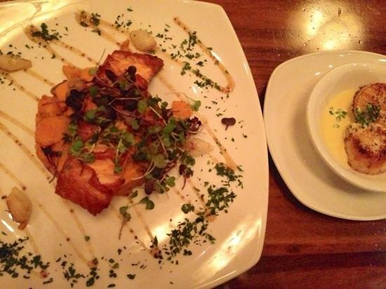 Grille 29: Scottish Salmon Brulee and a side order of Sea Scallops :)